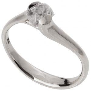 Raw Diamond Tension Engagement Ring Platinum