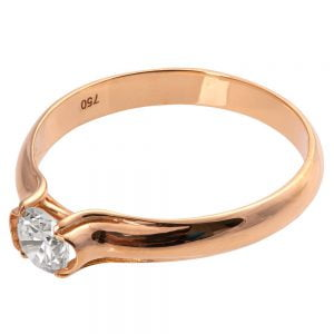 Engagement Ring Rose Gold and Diamond eng4