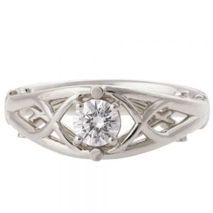Celtic Engagement Ring Platinum and Diamond 14