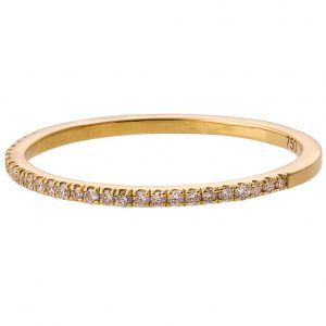 Half Eternity Band Yellow Gold and Diamonds