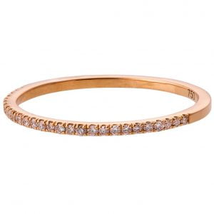 Half Eternity Band Rose Gold and Diamonds
