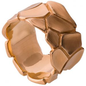 Parched Earth Wedding Band Rose Gold 2