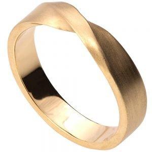 Mobius Wedding Band Yellow Gold 4