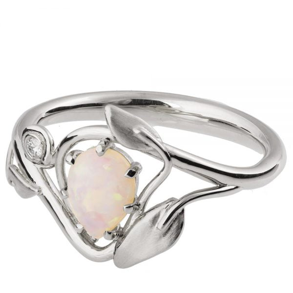 6db77a46f51d54 Leaves Opal Engagement Ring White Gold 3. Metal. Rose Gold