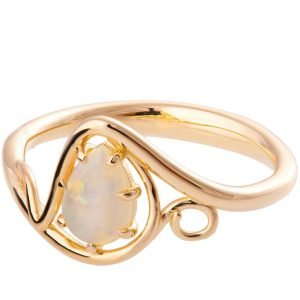 Twist Opal Engagement Ring Rose Gold 3