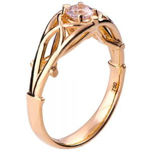 Celtic Engagement Ring Rose Gold and Diamond 14
