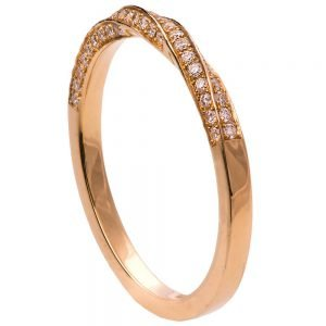 Mobius Diamond Ring Rose Gold 2
