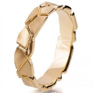 Parched Earth Wedding Band Yellow Gold 6