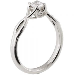 Celtic Engagement Ring White Gold and Diamond 15