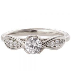 Celtic Engagement Ring White Gold and Diamond 15B
