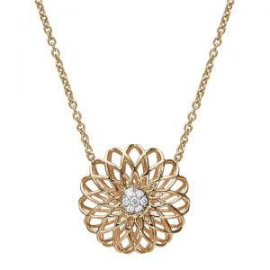 Mandala Pendant Yellow Gold and Diamonds