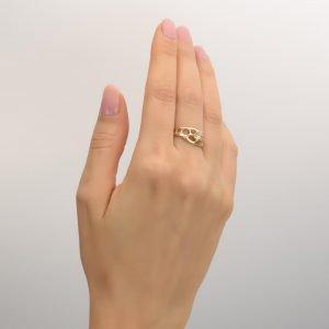 Raw Diamond Bio Engagement Ring Platinum E