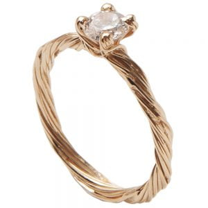 Twig Engagement Ring Rose Gold and Diamond 3