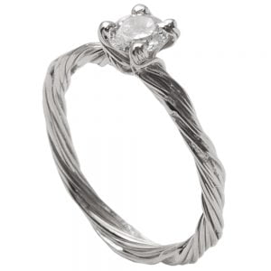 Twig Engagement Ring White Gold and Diamond 3