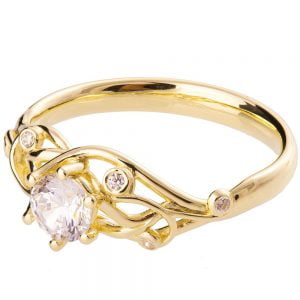 Knot Engagement Ring Yellow Gold and Diamond ENG17