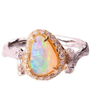 Opal Ring Rose Gold 10