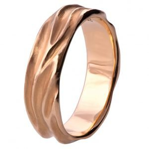 Dune Wedding Band Rose Gold 2