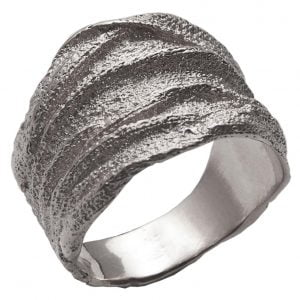 Golden Rag Wedding Band White Gold 3
