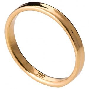 Simple Wedding Band Yellow Gold 2