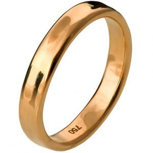 Simple Wedding Band Rose Gold 3