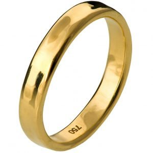 Simple Wedding Band Yellow Gold 3