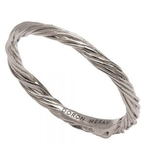 Twig Wedding Band Platinum 1