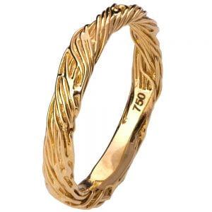 Twig Wedding Band Yellow Gold 5