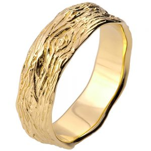 Twig Wedding Band Yellow Gold 9