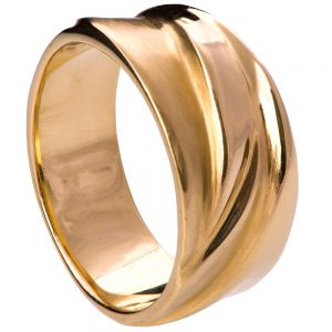 Wave Wedding Band Rose Gold 4
