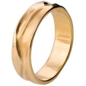 Wave Wedding Band Rose Gold 5