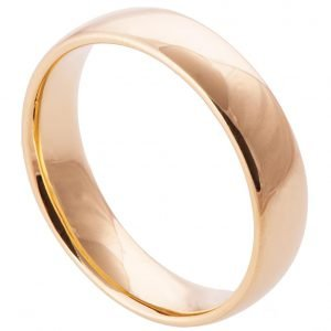 Comfort Fit Wedding Band Rose Gold