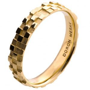Soar Wedding Band Yellow Gold