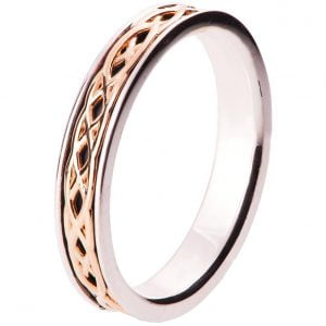 Celtic Wedding Band Rose Gold 9T