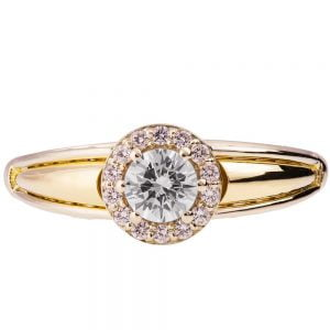 Two Tone Engagement Ring Yellow Gold and Diamond ENG27