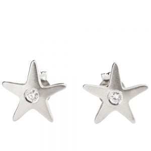 Starfish Earrings Platinum and Diamonds