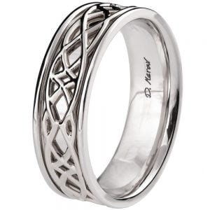 Celtic Wedding Band Platinum 9W