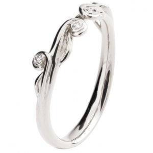Celtic Wedding Band Platinum and Diamonds 17