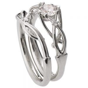 Celtic Bridal Set Platinum and Diamonds ENG9