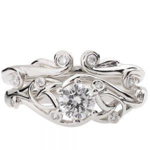 Celtic Bridal Set Platinum and Diamonds ENG17