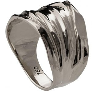 Golden Rag Wedding Band Platinum 4