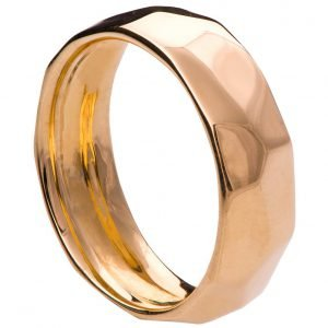 Hammered Wedding Band Rose Gold 1