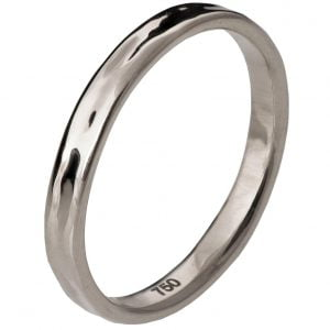 Simple Wedding Band White Gold 2