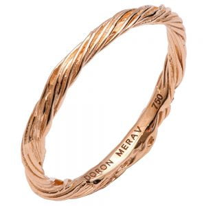 Twig Wedding Band Rose Gold 1