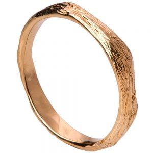 Twig Wedding Band Rose Gold 2