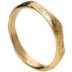 Twig Wedding Band Yellow Gold 2