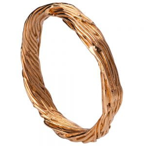 Twig Wedding Band Rose Gold 5