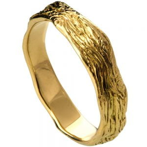 Twig Wedding Band Yellow Gold 6