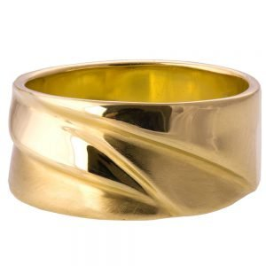 Wave Wedding Band Yellow Gold 4