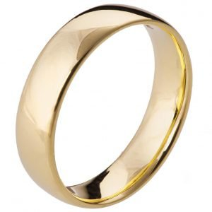 Comfort Fit Wedding Band Yellow Gold