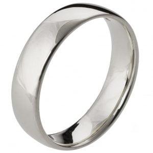 Comfort Fit Wedding Band Platinum